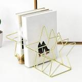 Gold S Shape Electroplated Bookend Desk Organizer Desktop Office Home Bookends Book Holder Book Stand Creative Bookshelf (Gold)