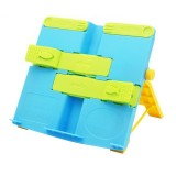 2 PCS Creative Folding Bookshelf Upgraded Portable Folding Student Book Stand Book Holder (Blue)