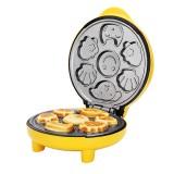 Household Cake Machine Mini Children Bread Machine Double-sided Heating Baking Machine (Yellow)