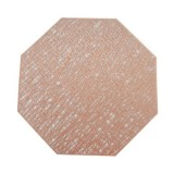 Pastoral Octagonal PVC Insulated Placemat Creative Hollow Placemat Household Table Decoration (Rose Gold)