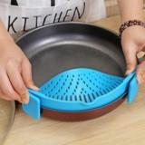 Silicone Pot Filter Kitchen Clip Pot Filter Drain Excess Liquid Drain Pasta Vegetable Cookware