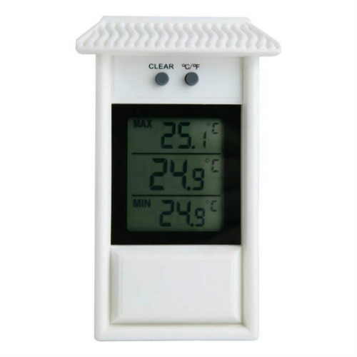 Eaves Shape Outdoor Garden Refrigerator Waterproof Thermometer (White)