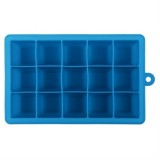 15 Grids DIY Big Ice Cube Mold Square Shape Silicone Ice Tray Fruit Ice Cream Maker (Sky Blue)