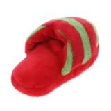 Pet Toys Slippers Puppy Dog Sound Chew Play Toys for Dog Cats Funny Dog Products Red