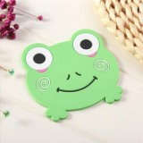 4 PCS Cartoon Coffee Silicone Cup Mat Placemat Drink Coaster Kitchen Table Pad (Green)