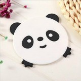4 PCS Cartoon Coffee Silicone Cup Mat Placemat Drink Coaster Kitchen Table Pad (Black)