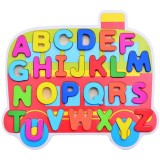 Children Puzzle Toys Nursery Cartoon Hand Grab Board Wooden Plywood Jigsaw Puzzle for Children Digital Alphabet Cognition (Letter)