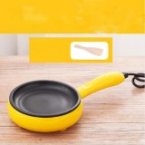 Multifunction Mini Non-Stick Frying Pan Boiler Steamer Cooker Poached Eggpot (Yellow single frying pan + wooden shovel)