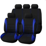 9 PCS Four Seasons Universal Seat Cover Cushion Car Fur Seat Covers Set Universal Cushion (Blue)