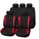 9 PCS Four Seasons Universal Seat Cover Cushion Car Fur Seat Covers Set Universal Cushion (Red)