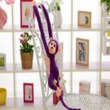 Kawaii Long Arm Tail Monkey Stuffed Doll Plush Toys Curtains Baby Sleeping Appease Animal Doll Birthday Gifts, Height: 60cm (Purple)