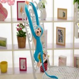 Kawaii Long Arm Tail Monkey Stuffed Doll Plush Toys Curtains Baby Sleeping Appease Animal Doll Birthday Gifts, Height: 60cm (Blue)