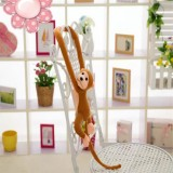 Kawaii Long Arm Tail Monkey Stuffed Doll Plush Toys Curtains Baby Sleeping Appease Animal Doll Birthday Gifts, Height: 60cm (Brown)