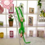 Kawaii Long Arm Tail Monkey Stuffed Doll Plush Toys Curtains Baby Sleeping Appease Animal Doll Birthday Gifts, Height: 60cm (Green)