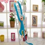 Kawaii Long Arm Tail Monkey Stuffed Doll Plush Toys Curtains Baby Sleeping Appease Animal Doll Birthday Gifts, Height: 70cm (Blue)