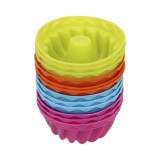 12 PCS Thread Shape Baking Jelly Mould Silicone Pudding Cupcake Muffin Donut Mold