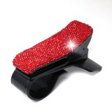 Diamond Car Phone Holder 360 Degree Rotating Creative Car Dashboard Mobile Holders (Red)