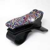 Diamond Car Phone Holder 360 Degree Rotating Creative Car Dashboard Mobile Holders (Black Color Mixing)