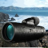 Outdoor HD Portable Monocular Binoculars Mobile Telescope Low-light Night Vision Monoscope Fishing Telescope (10X42)