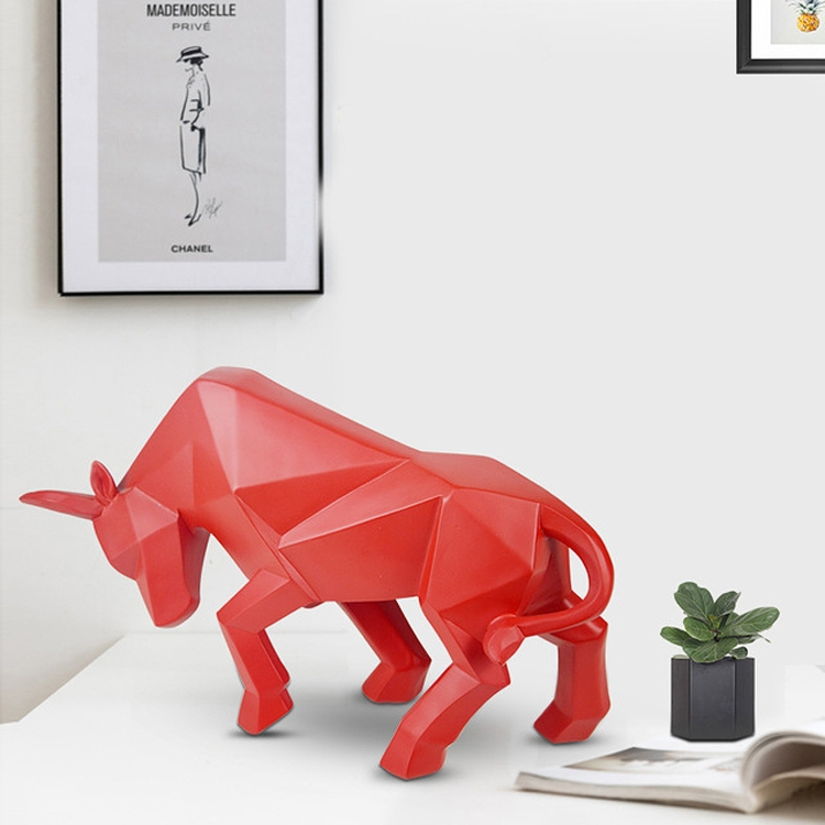 Creative Home Decorations Resin Crafts Cow Ornaments, Size: 34x10x19cm (Red)