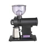 Electric Coffee Grinder Flat Wheel Burr Grinder Coffee Miller (Black)