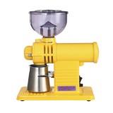 Electric Coffee Grinder Flat Wheel Burr Grinder Coffee Miller (Yellow)