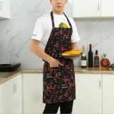 Chef Aprons Unisex Kitchen Hotel Coffee Shop Bakery Waiter Work Wear, Style: Chili, Size: 65x73cm