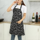 Chef Aprons Unisex Kitchen Hotel Coffee Shop Bakery Waiter Work Wear, Style: Knife And Fork, Size: 65x73cm