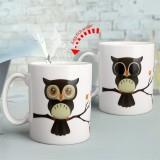 Ceramic Owl Magic Color Change Milk Coffee Tea Mug Cup Mugs Cold Heat Sensitive Mug