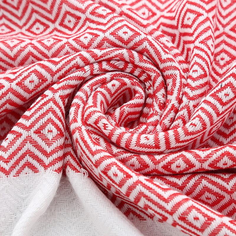 Striped Cotton Bath Towel With Tassels Thin Travel Camping Bath Sauna Beach Gym Pool Blanket Absorbent Easy Care (Black)