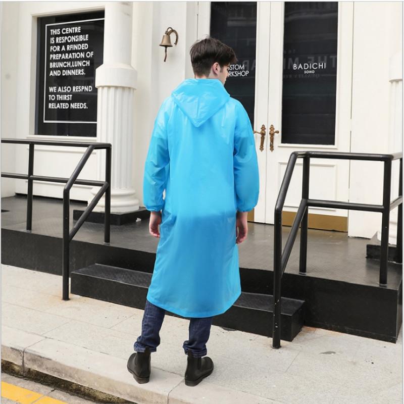Disposable PEVA Environment Transparent Raincoat Outdoor Hiking Siamese Raincoat (Pink)