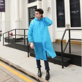 Disposable PEVA Environment Transparent Raincoat Outdoor Hiking Siamese Raincoat (Blue)