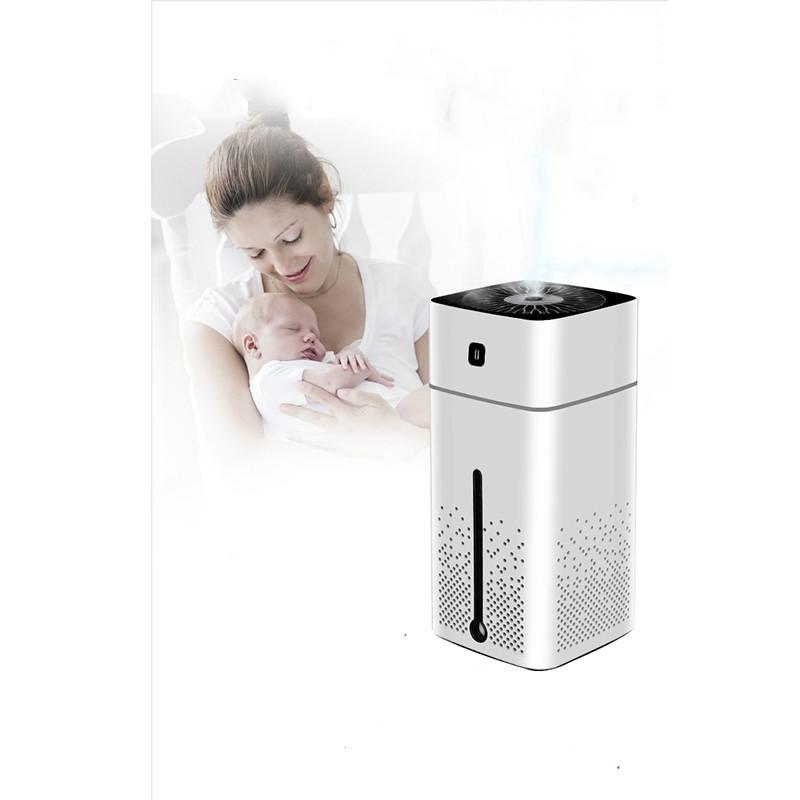 Ultrasonic Air Humidifier USB Essential Oil Aroma Diffuser LED Night Light Spray Mist Purifier, 1000ml (White)