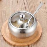 Stainless Steel Seasoning Jar Set Home Kitchen Seasoning Box Combination, Specification: Tomato Spice Jar Medium
