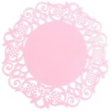 30 PCS Lace Flower Hot Coaster Silicone Cup Pad Slip Insulation Pad Cup Mat Pad Hot Drink Holder (Pink)