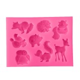 Animals Silicone Mold Cake Decorating Tools Pastry Baking Chocolate Soap Mold