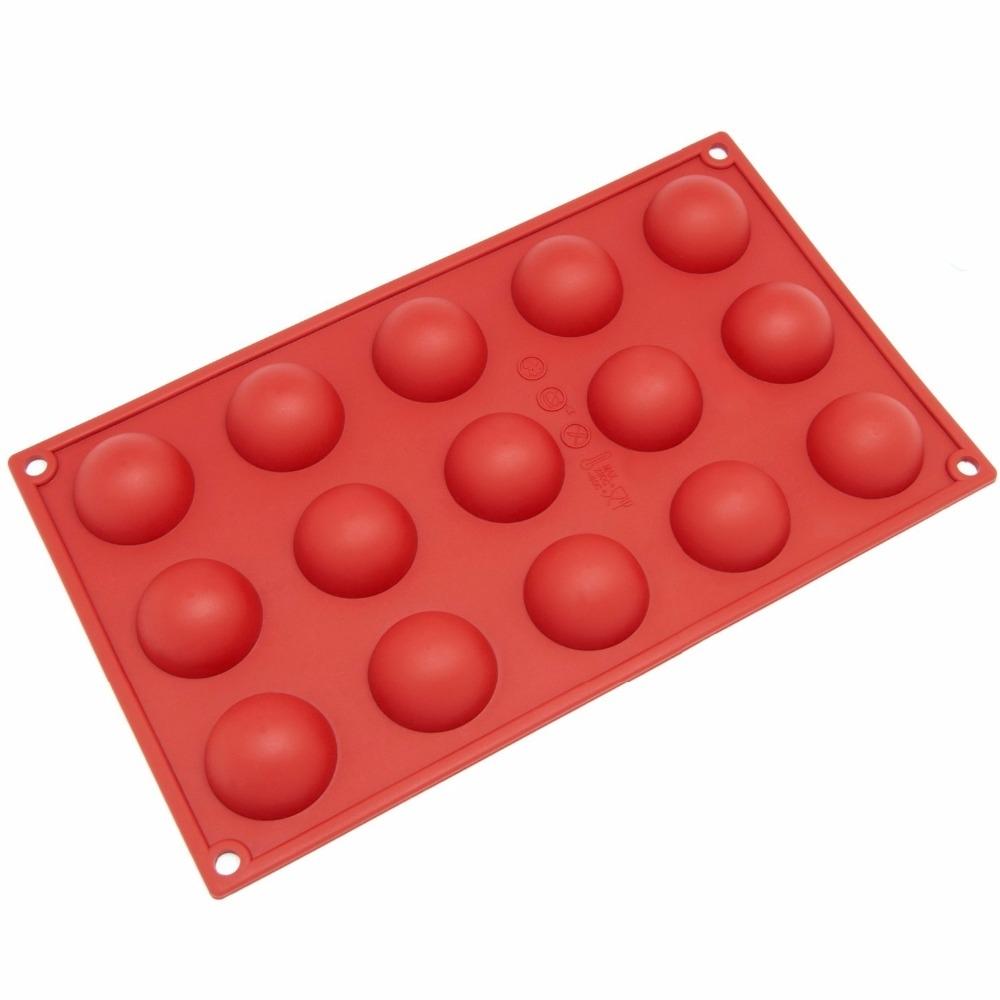 2 PCS Round Balls Silicone Mold Bread Cake Fondant Mousse Chocolate Mold Tray Kitchen DIY Baking Decorating Tools