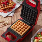 YIDPU Electric Egg Sandwich Maker Mini Grilling Panini Baking Plates Toaster Multifunction Non-Stick Waffle Breakfast Machine Red