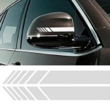 10 PCS Simple Rearview Mirror Car Stickers Rearview Mirror Personality Scratches Reflective Car Stickers (White)