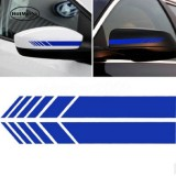 10 PCS Simple Rearview Mirror Car Stickers Rearview Mirror Personality Scratches Reflective Car Stickers (Blue)