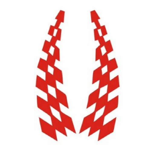 10 Sets Car Stickers Lattice Flag Wheel Eyebrows Reflective Stickers Scratches Strips Car Stickers (Red)