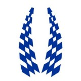 10 Sets Car Stickers Lattice Flag Wheel Eyebrows Reflective Stickers Scratches Strips Car Stickers (Blue)