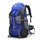 Free Knight 50L Outdoor Sport Camping Mountaineering Hiking Backpacks Waterproof Sports Bag (Blue)