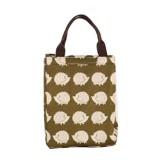 2 PCS Fashion Animal Canvas Portable Insulation Bag Lunch Bag Lunch Box Bag (Hedgehog)