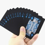 2 PCS Plastic PVC Poker Cards Waterproof Black Playing Cards Creative Gift Durable Poker
