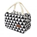 Cotton Linen Fashion Insulation Waterproof Portable Lunch Bag Insulation Bag Insulation Package (Big triangle)