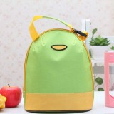 Portable Cooler Tote Insulated Canvas Lunch Bag Thermal Food Picnic Bento Lunch Bags (Green Yellow)