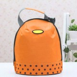 Portable Cooler Tote Insulated Canvas Lunch Bag Thermal Food Picnic Bento Lunch Bags (Orange)