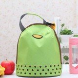 Portable Cooler Tote Insulated Canvas Lunch Bag Thermal Food Picnic Bento Lunch Bags (Green)