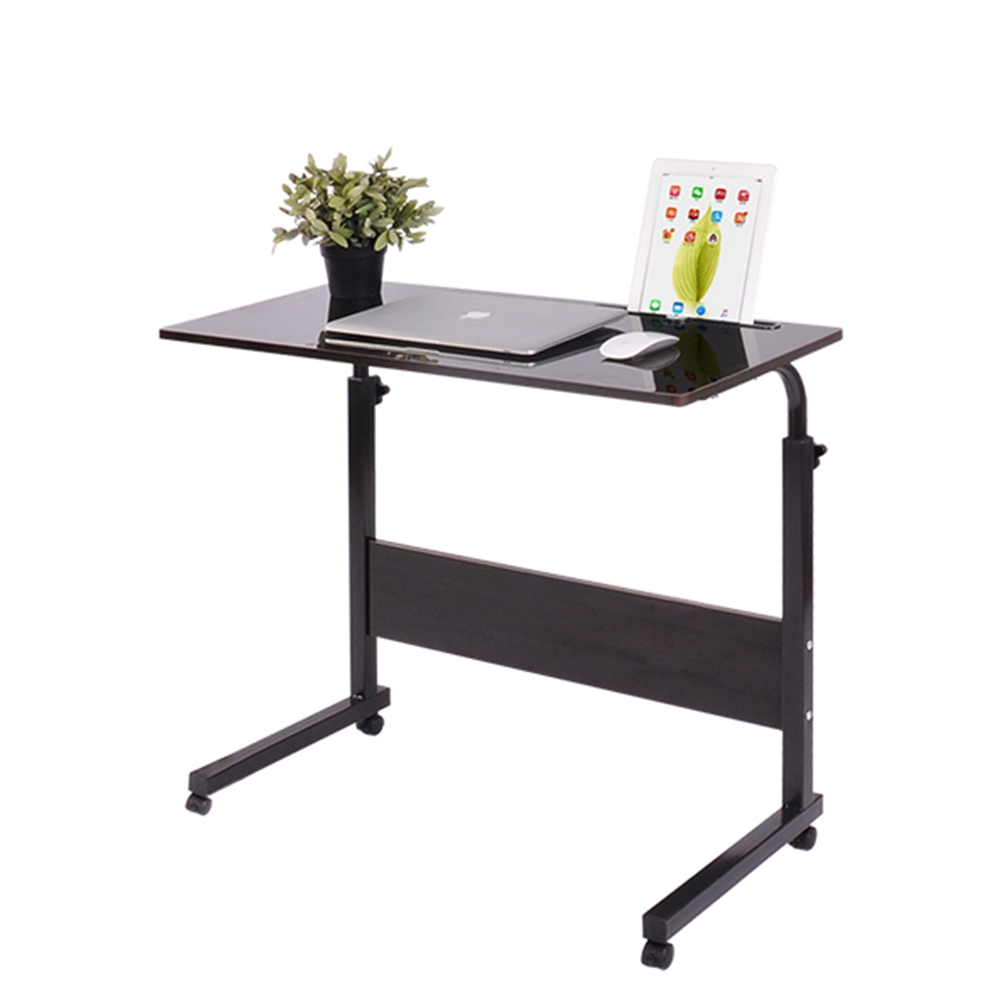 Removable Laptop Desk Lazy Bed Study Desk Bedside Computer Desk, Size:60x40cm (Black Walnut With Slot)